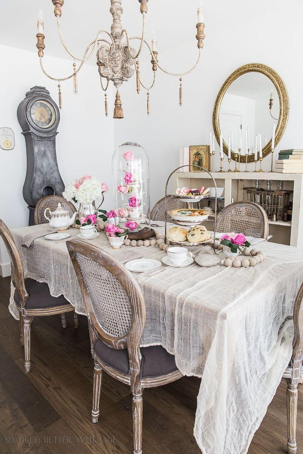 Sweet Romantic Dining Room Decor 20