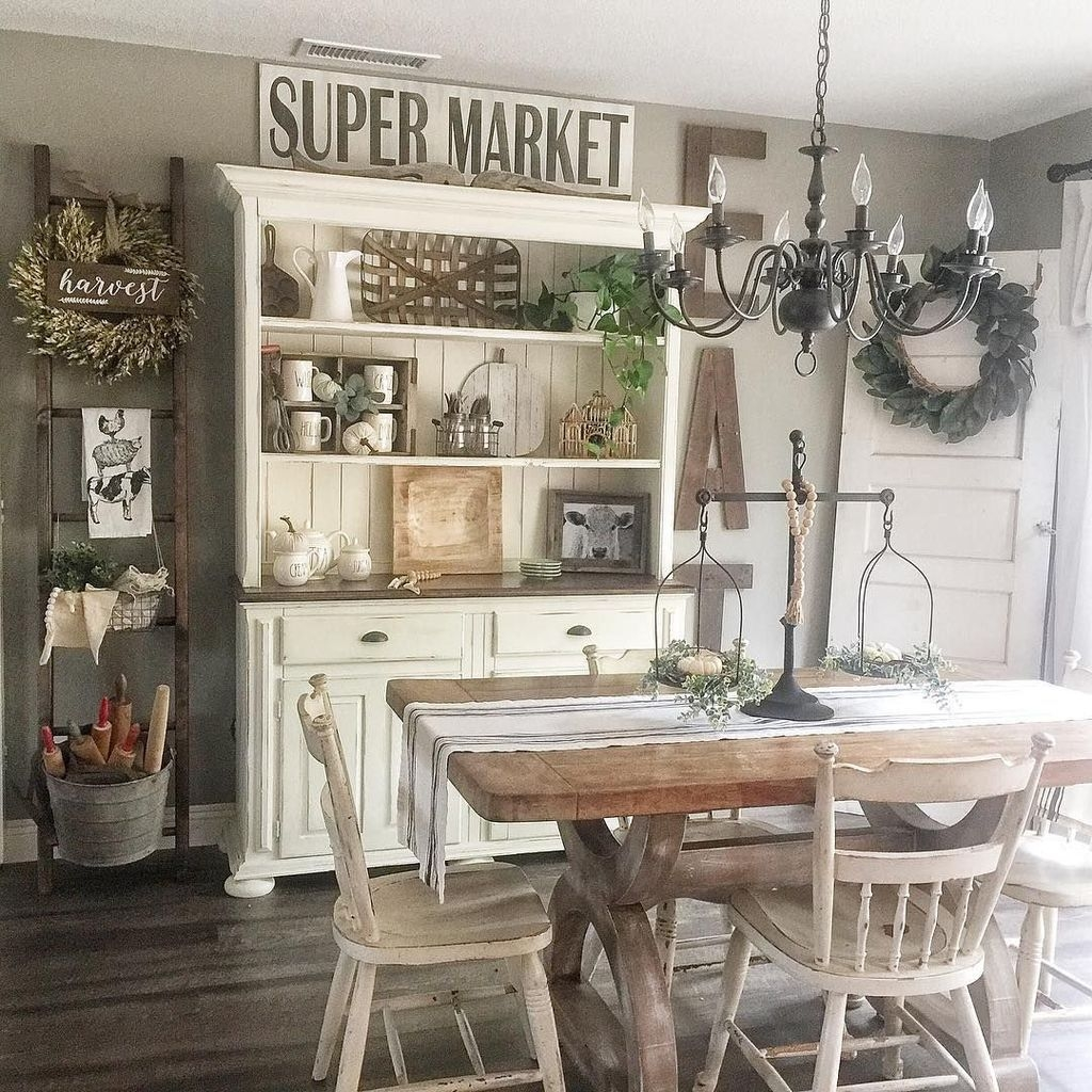 Sweet Romantic Dining Room Decor 38
