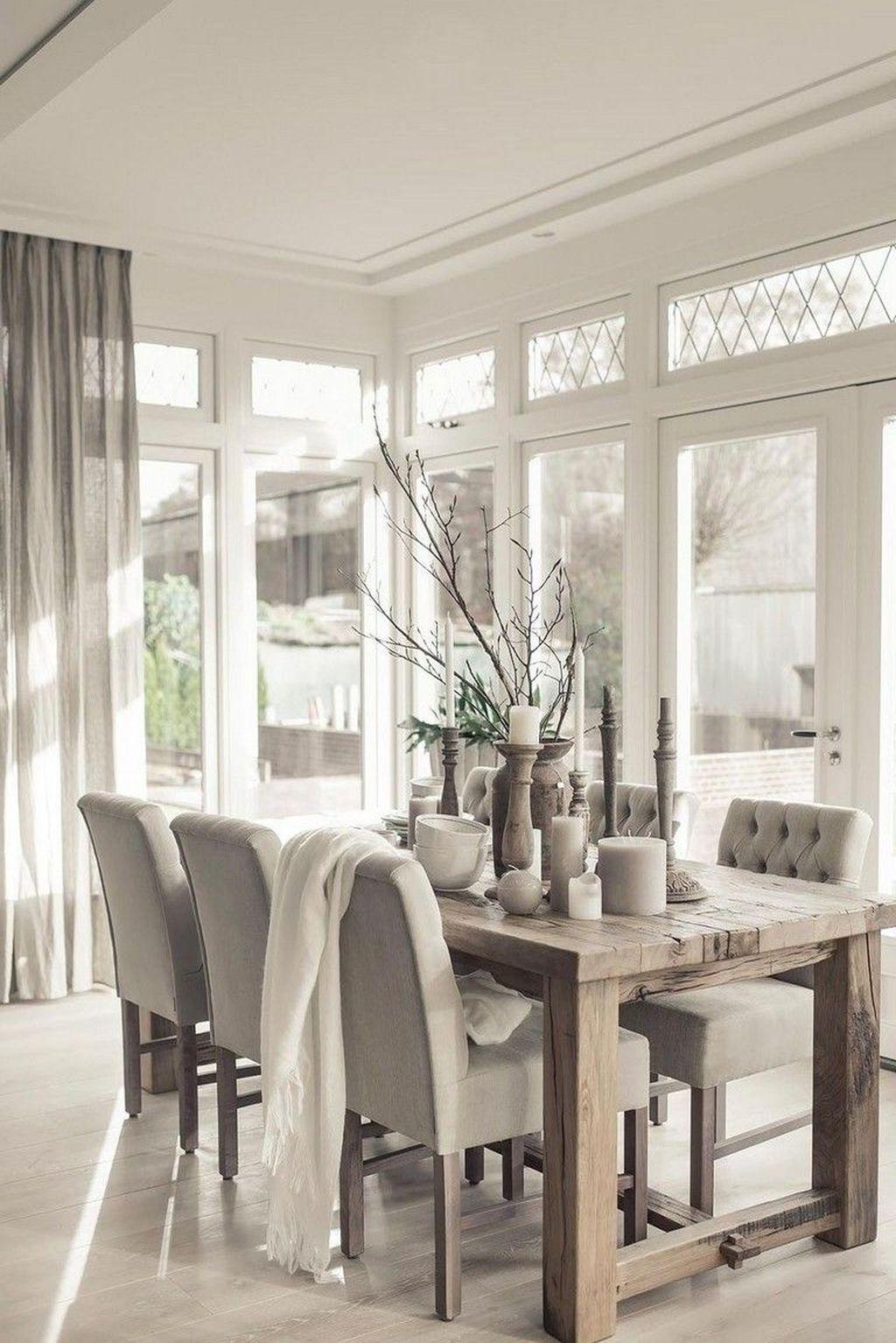 Amazing Rustic Dining Room Design Ideas 06