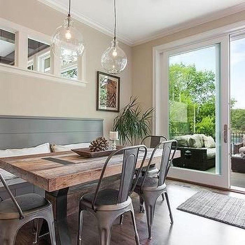 Amazing Rustic Dining Room Design Ideas 33