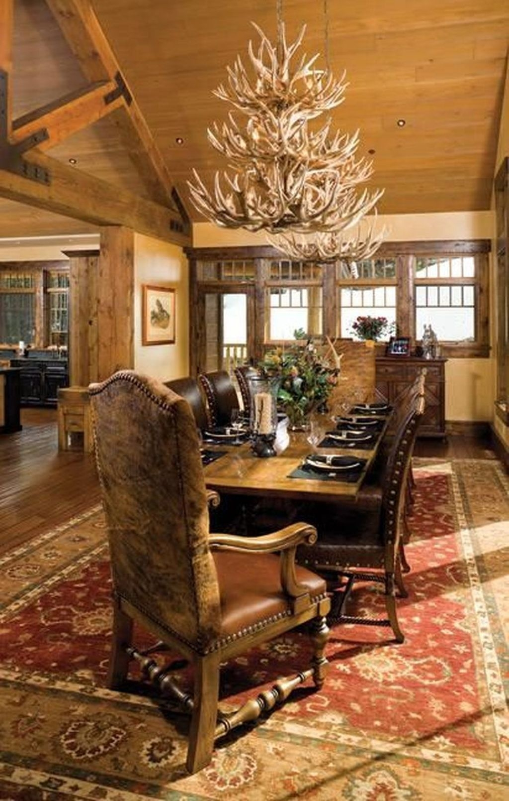 Amazing Rustic Dining Room Design Ideas 45