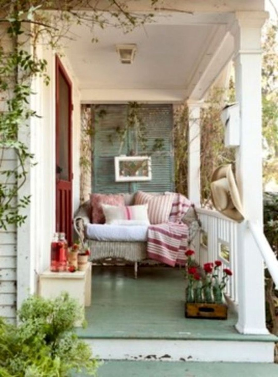 Front Porch Valentines Day Decor With LOVE Word 06