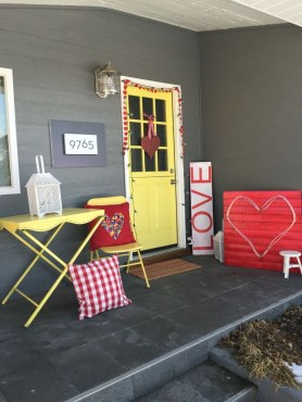 Front Porch Valentines Day Decor With LOVE Word 24