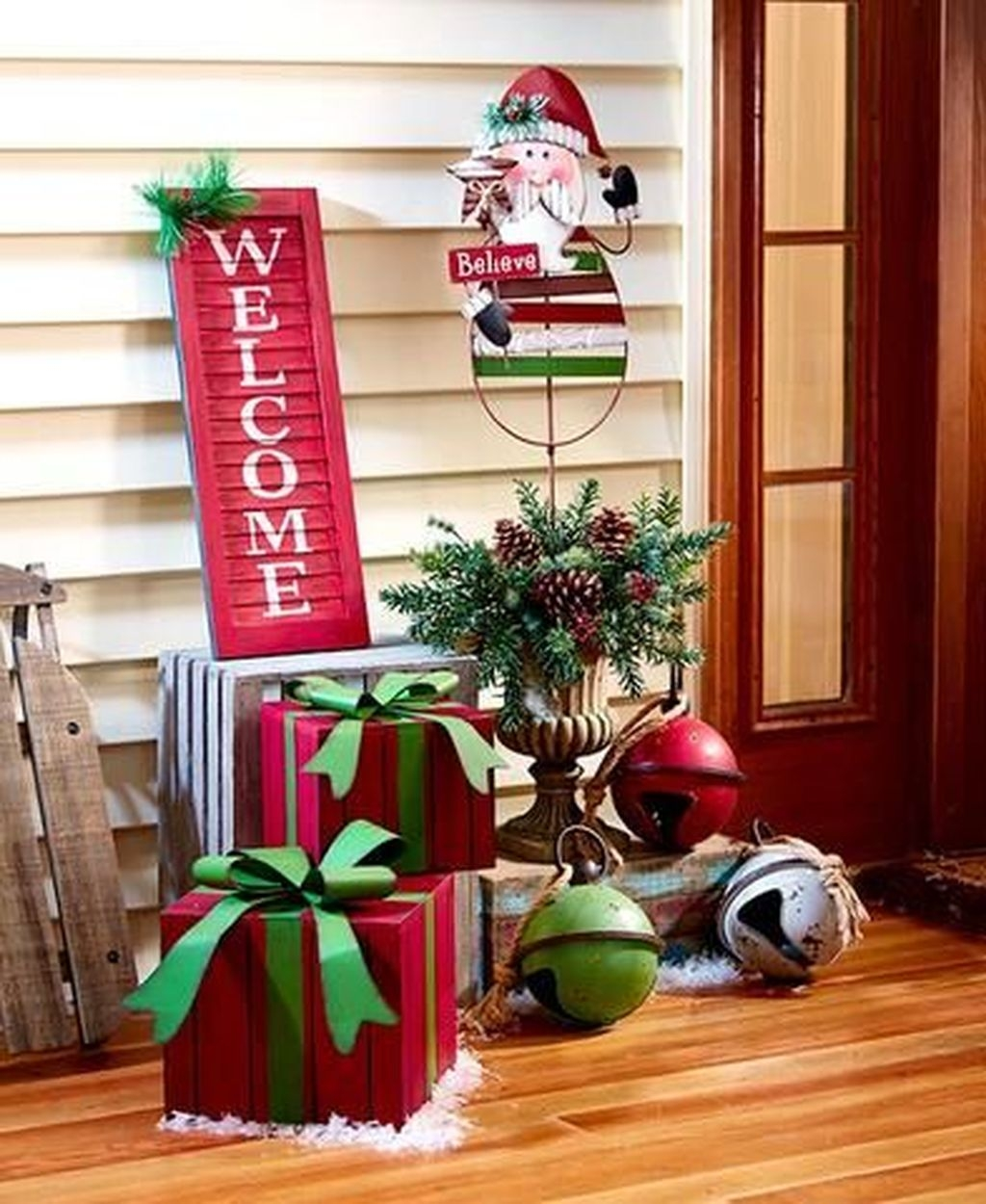 Front Porch Valentines Day Decor With LOVE Word 26