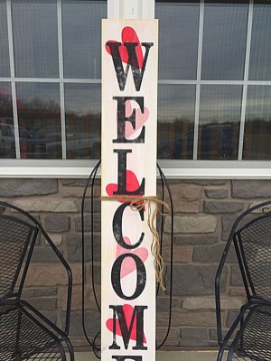 Front Porch Valentines Day Decor With LOVE Word 41