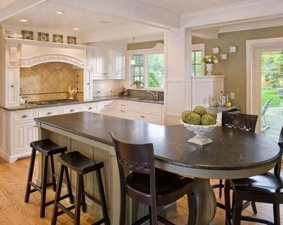 Kitchen Island Design Ideas With Marble Countertops 50