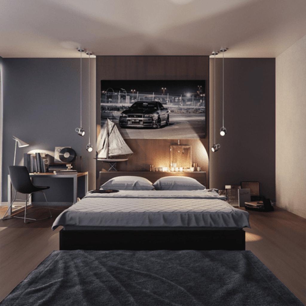 Luxury Modern Man Bedroom Design Ideas 32