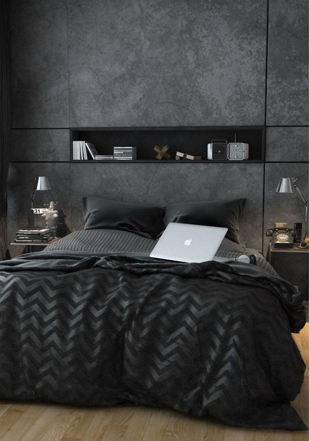 Luxury Modern Man Bedroom Design Ideas 34