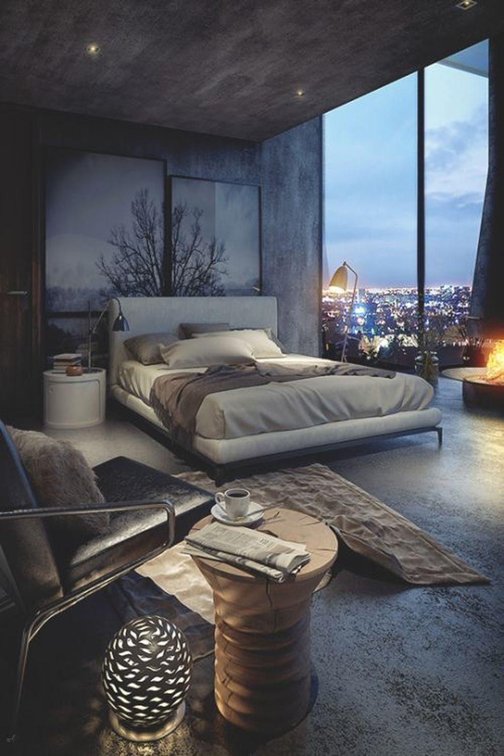 Luxury Modern Man Bedroom Design Ideas 46
