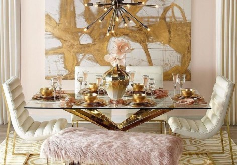 Romantic Valentines Day Dining Room Decor 02