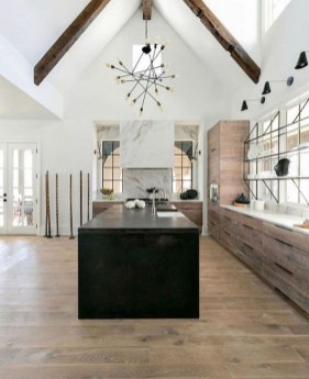 Black Kitchen Design Ideas With White Color Accent 09