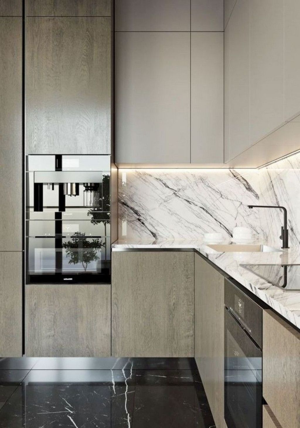 Black Kitchen Design Ideas With White Color Accent 12