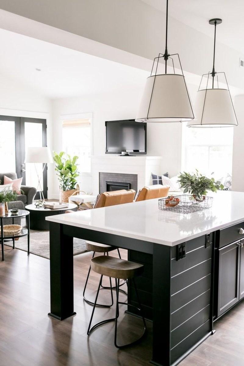 Black Kitchen Design Ideas With White Color Accent 19