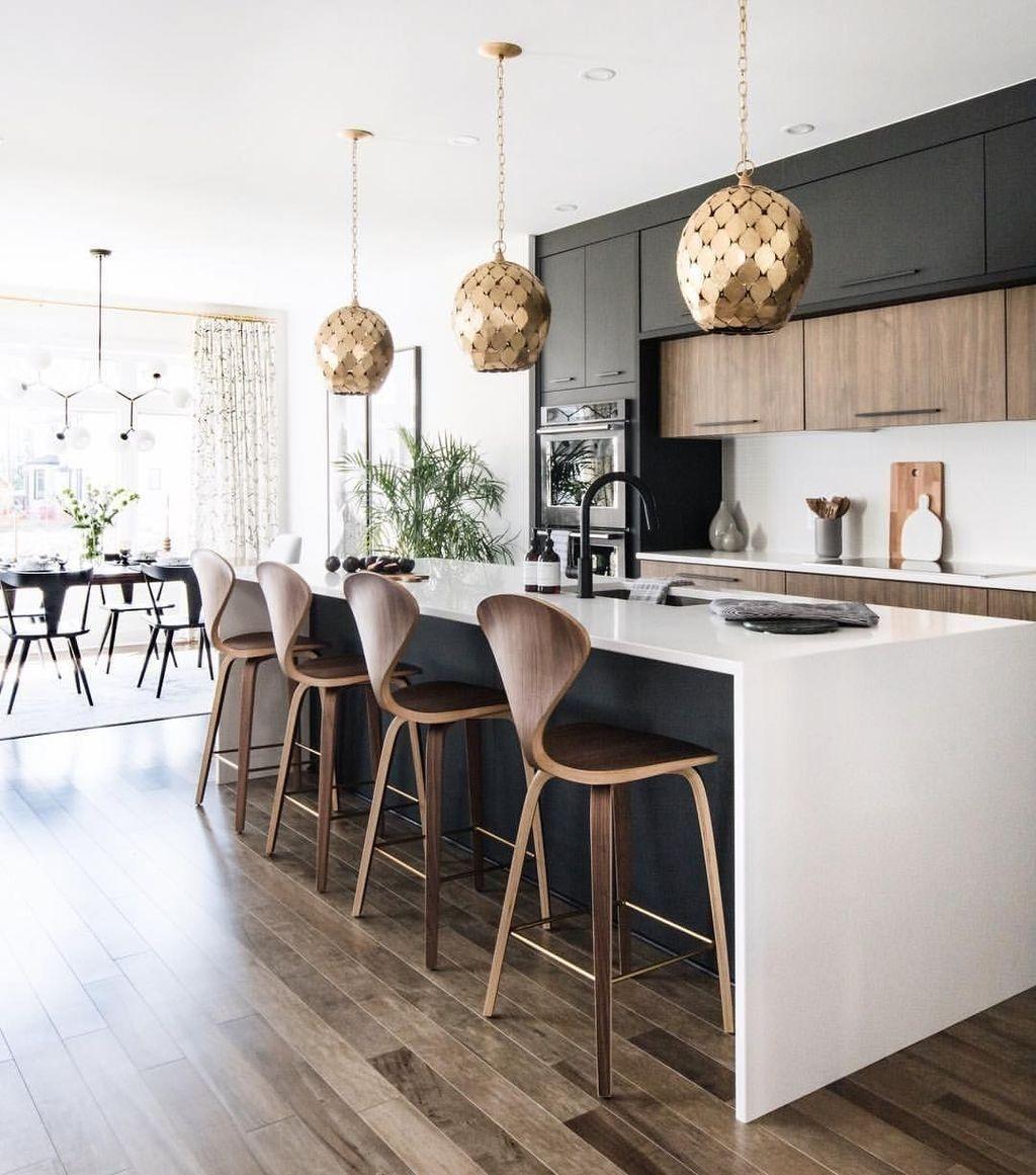 Black Kitchen Design Ideas With White Color Accent 23