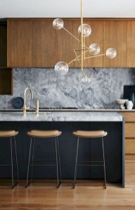 Black Kitchen Design Ideas With White Color Accent 33