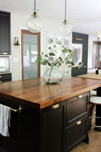 Black Kitchen Design Ideas With White Color Accent 34
