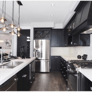 Black Kitchen Design Ideas With White Color Accent 35