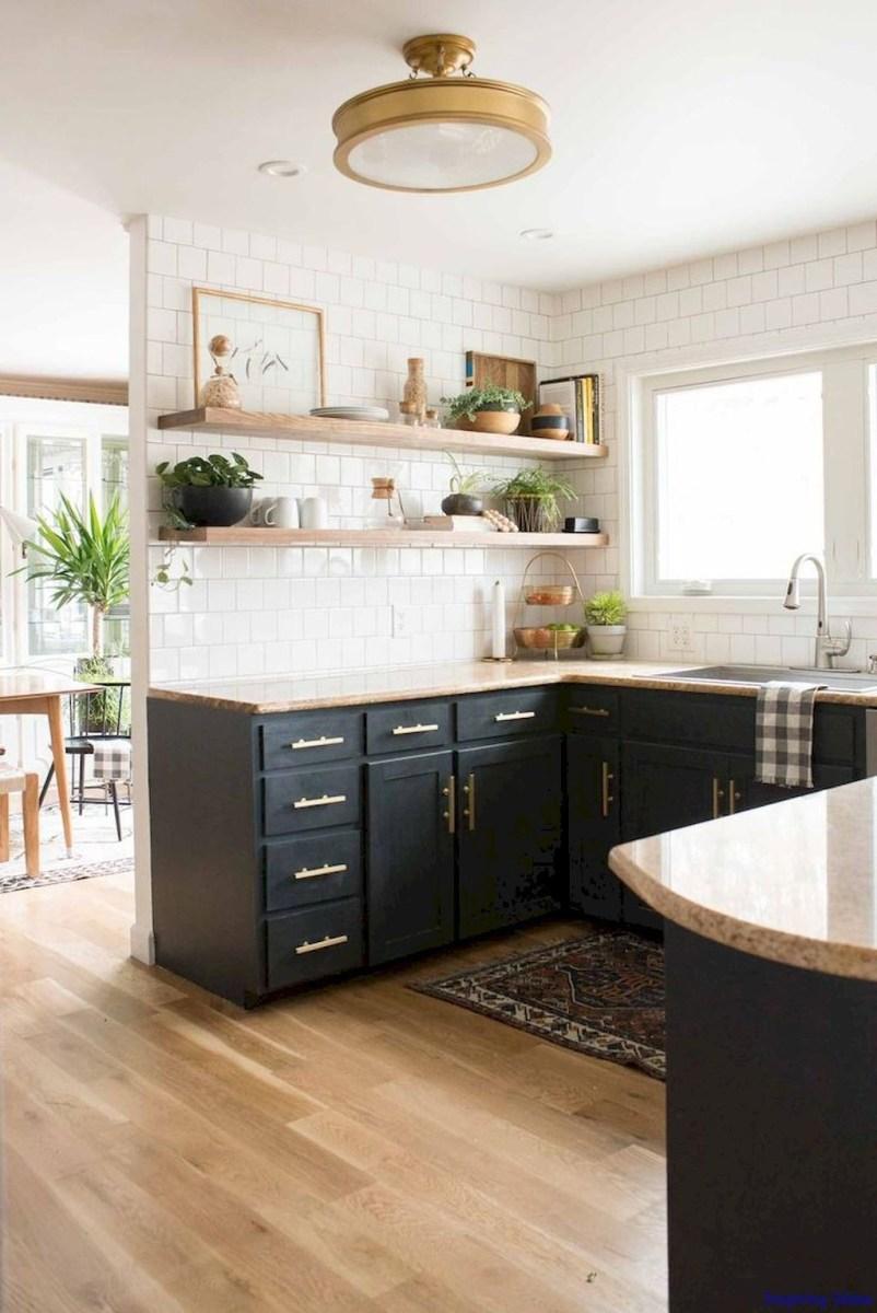 Black Kitchen Design Ideas With White Color Accent 45