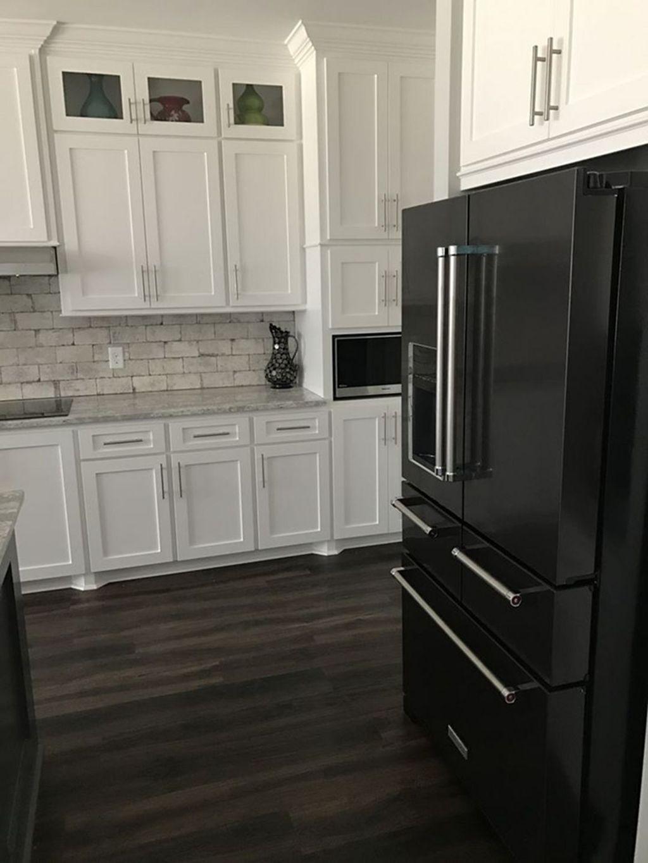 Black Kitchen Design Ideas With White Color Accent 50