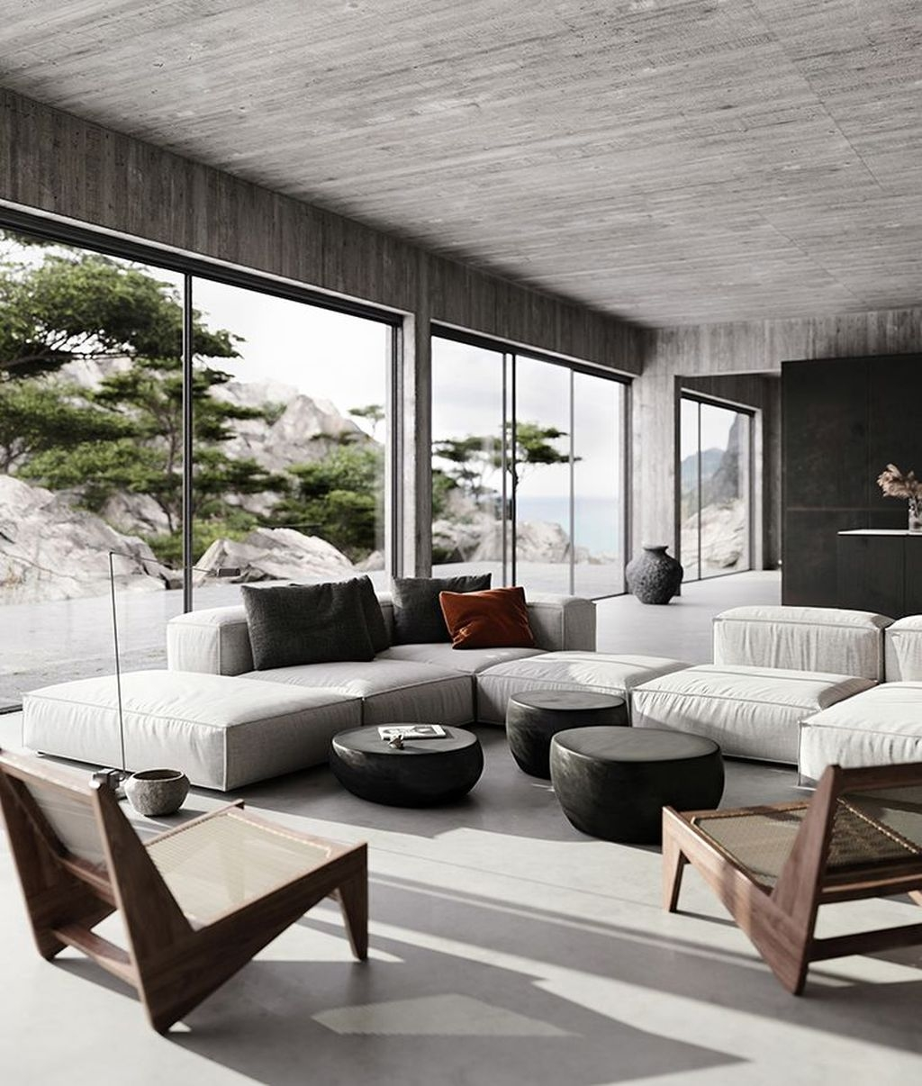 Contemporary Home Design Ideas For Living Room 15