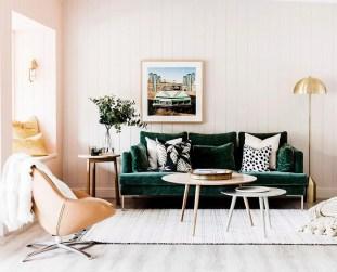 Lovely Pink Living Room Decor Ideas 13
