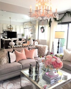 Lovely Pink Living Room Decor Ideas 27