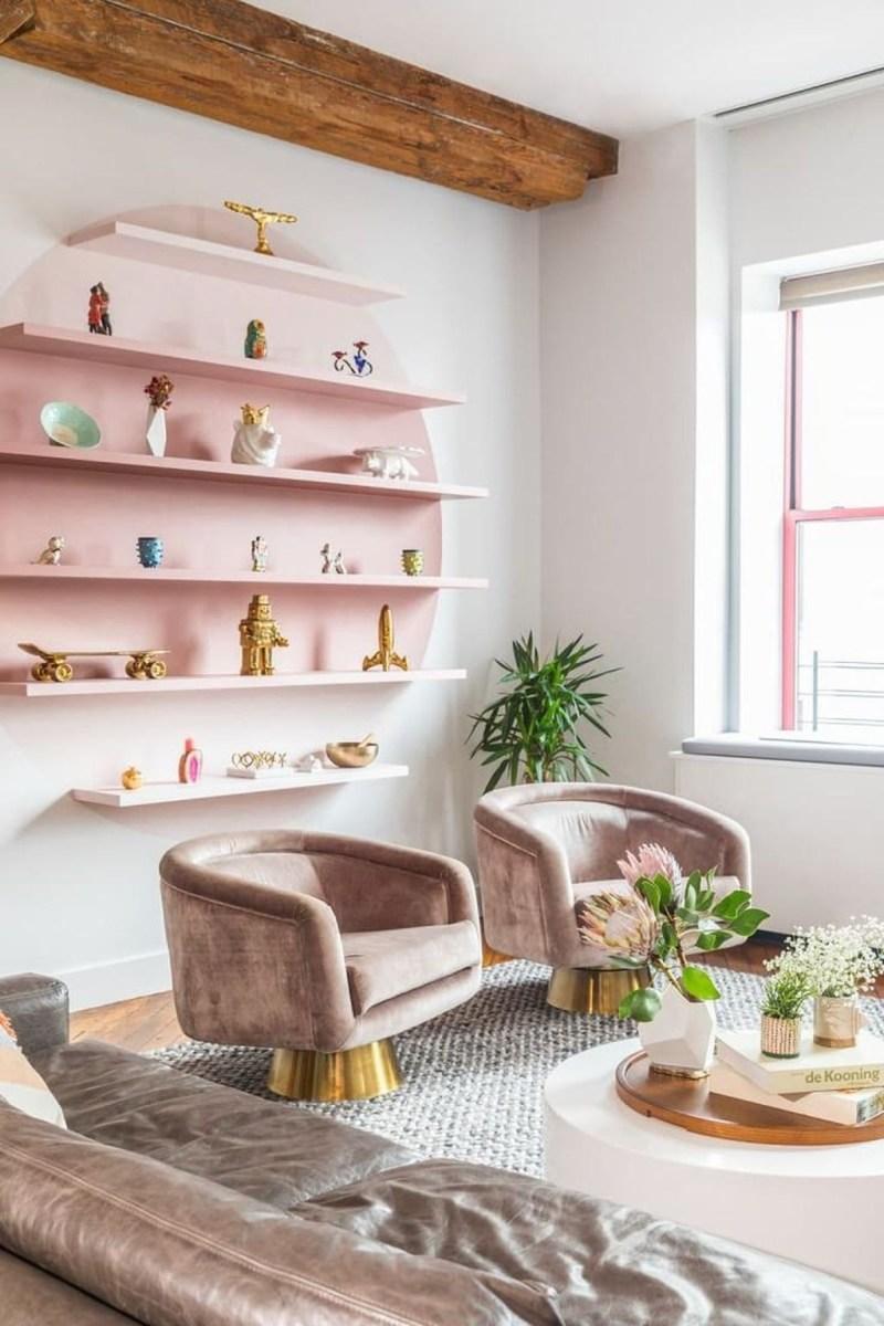 Lovely Pink Living Room Decor Ideas 31