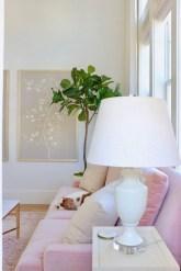 Lovely Pink Living Room Decor Ideas 32