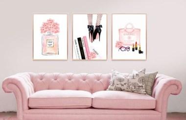 Lovely Pink Living Room Decor Ideas 33