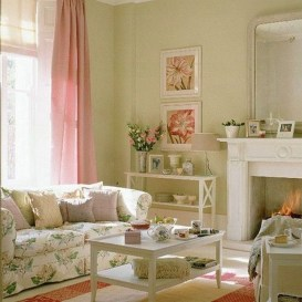 Lovely Pink Living Room Decor Ideas 37