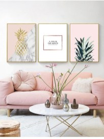 Lovely Pink Living Room Decor Ideas 38