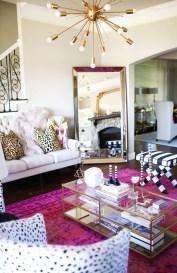 Lovely Pink Living Room Decor Ideas 40