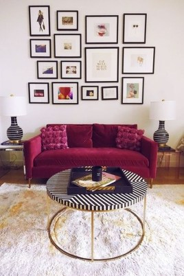 Lovely Pink Living Room Decor Ideas 47