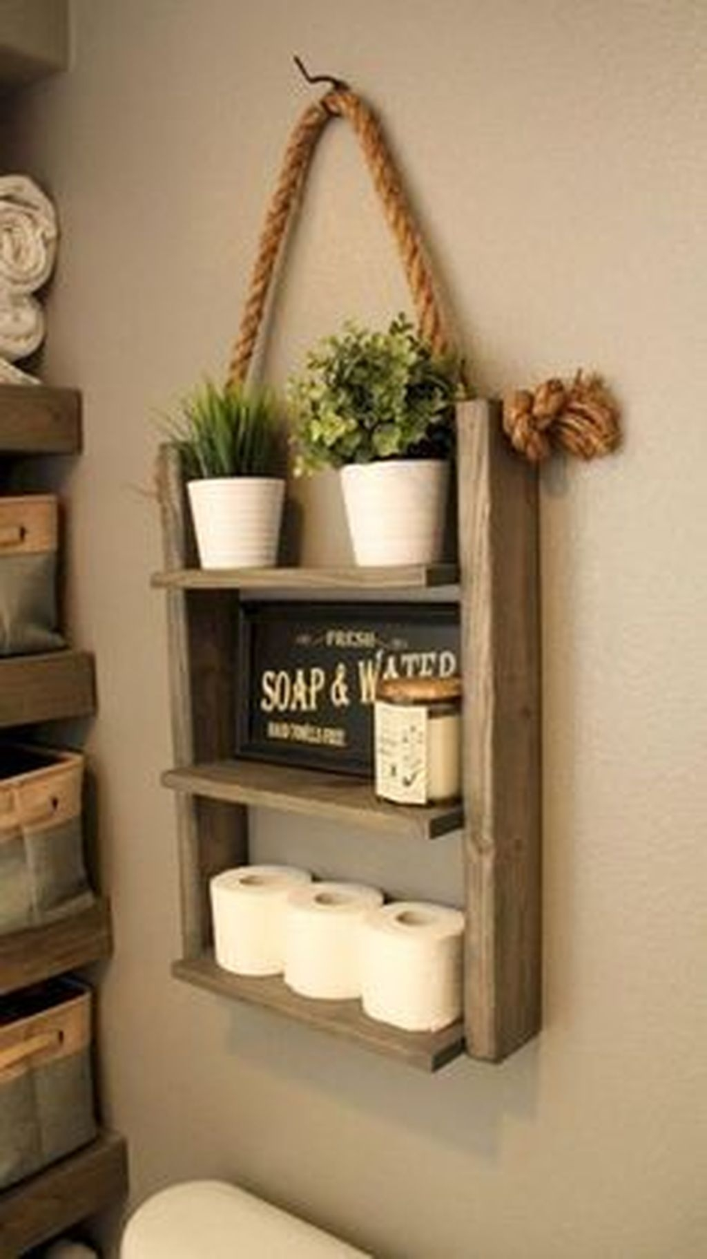 Perfect Rustic Farmhouse Bathroom Design Ideas 42