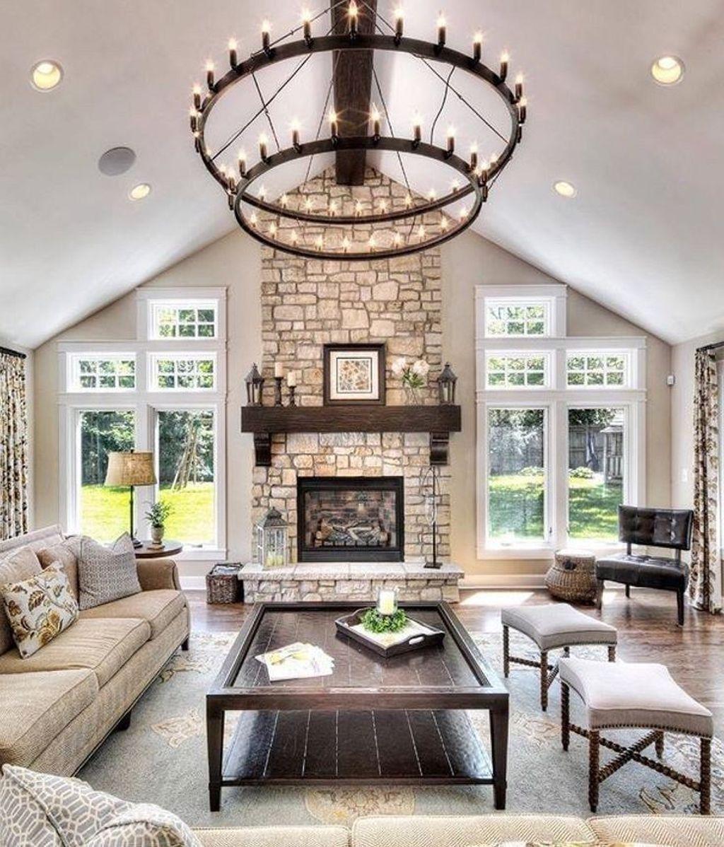 Admirable Farmhouse Living Room Decor Ideas 24