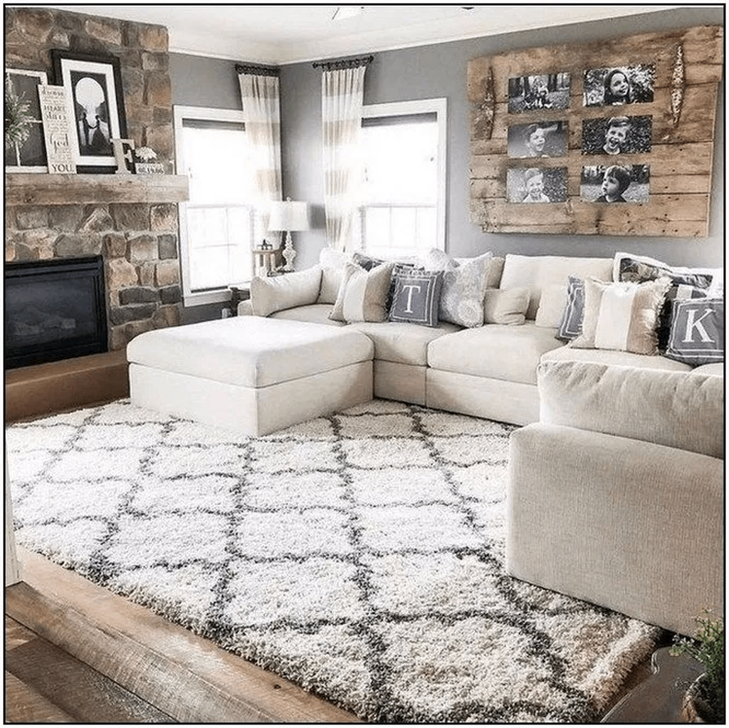 Admirable Farmhouse Living Room Decor Ideas 35