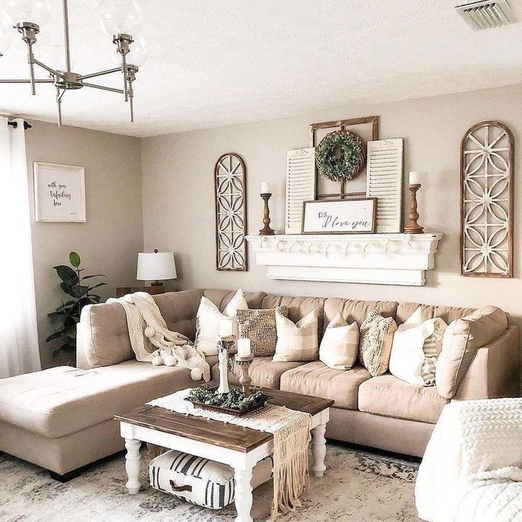 Admirable Farmhouse Living Room Decor Ideas 39