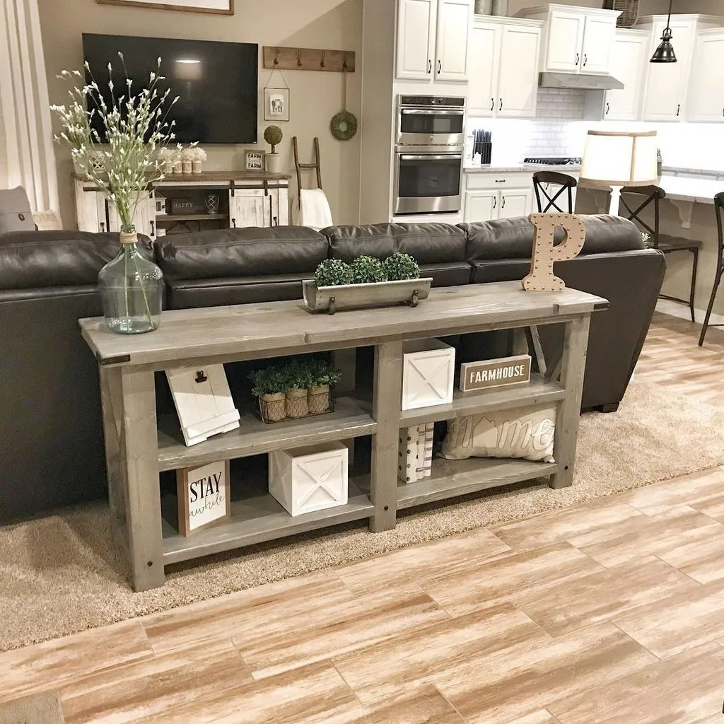 Amazing Sofa Table Decor Ideas You Should Try 20