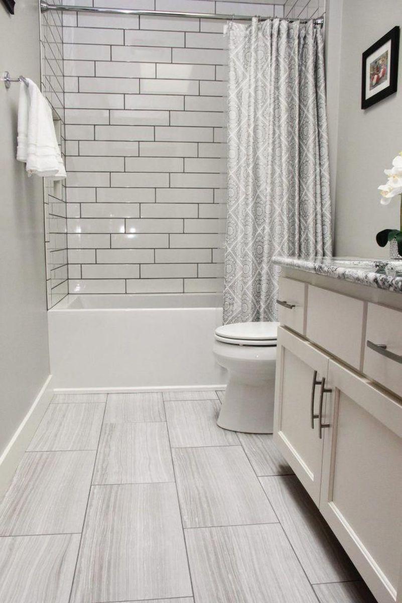Amazing White Tile Bathroom Design Ideas Looks Elegant 03