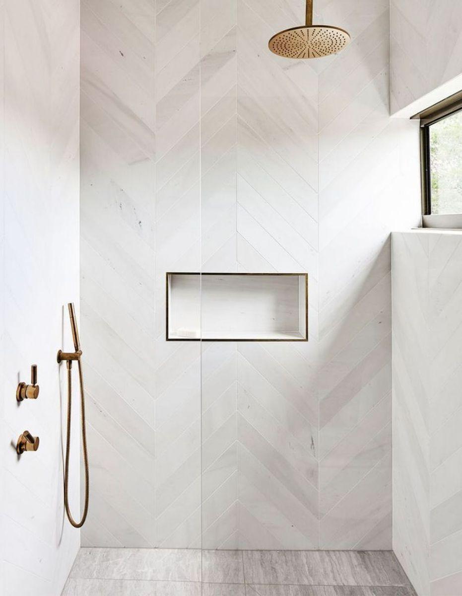 Amazing White Tile Bathroom Design Ideas Looks Elegant 09