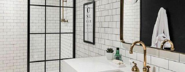 Amazing White Tile Bathroom Design Ideas Looks Elegant 23