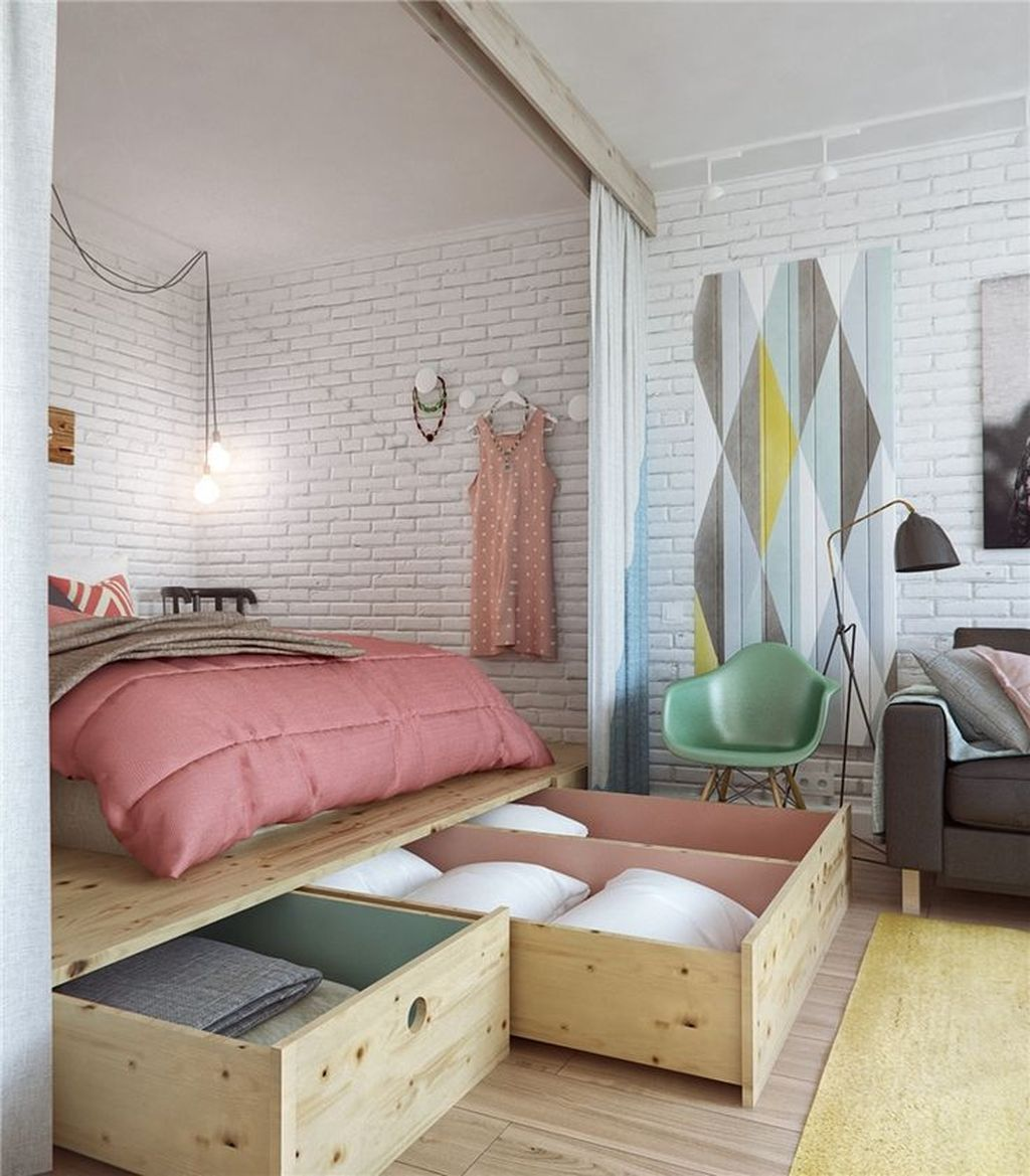 Cool Studio Apartment Ideas You Never Seen Before 18