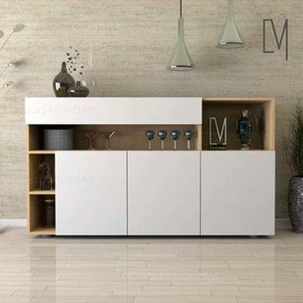 Fascinating Small Living Room Cabinet Design Ideas 19
