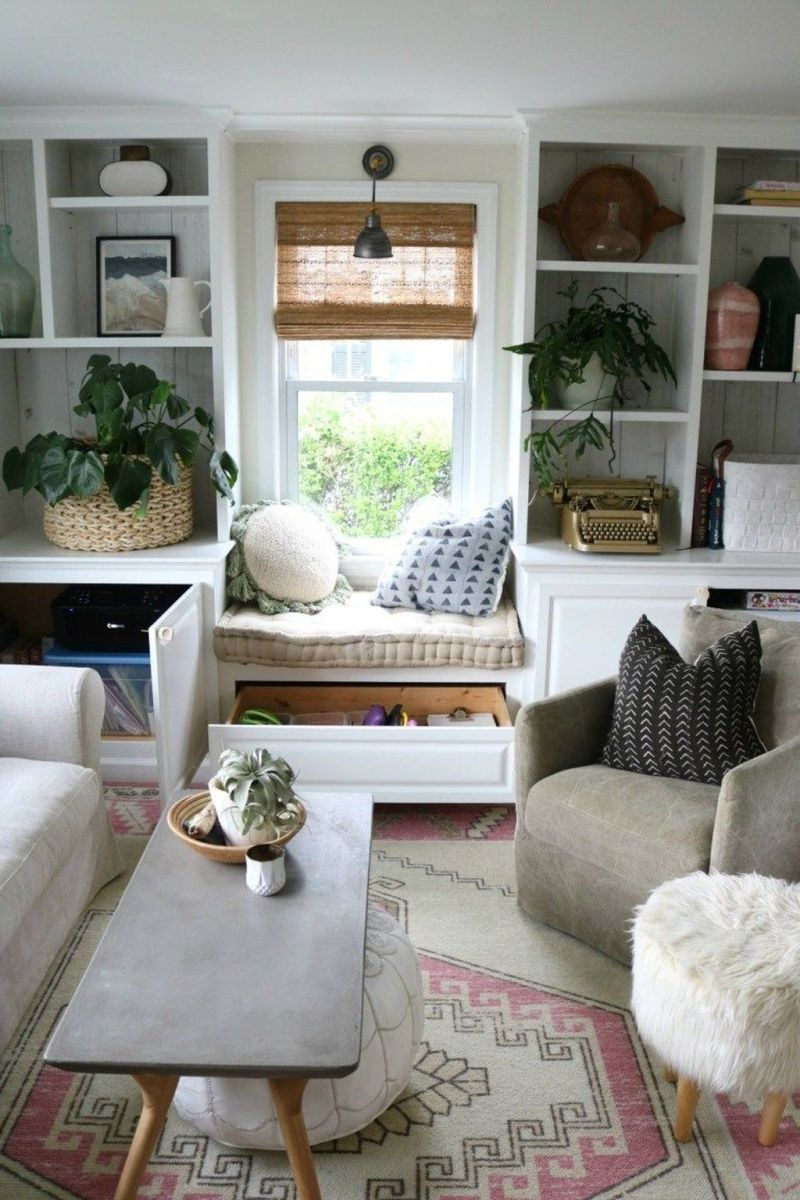Fascinating Small Living Room Cabinet Design Ideas 21