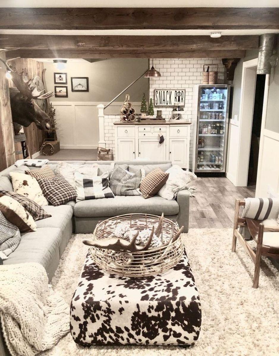 Gorgeous Basement Living Room Ideas You Definitely Like 28