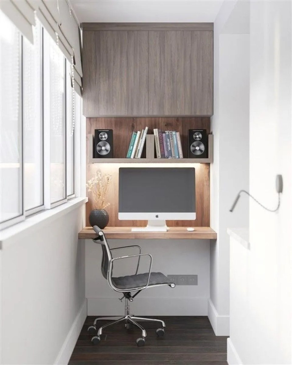 Inspiring Small Office Ideas For Small Space 15