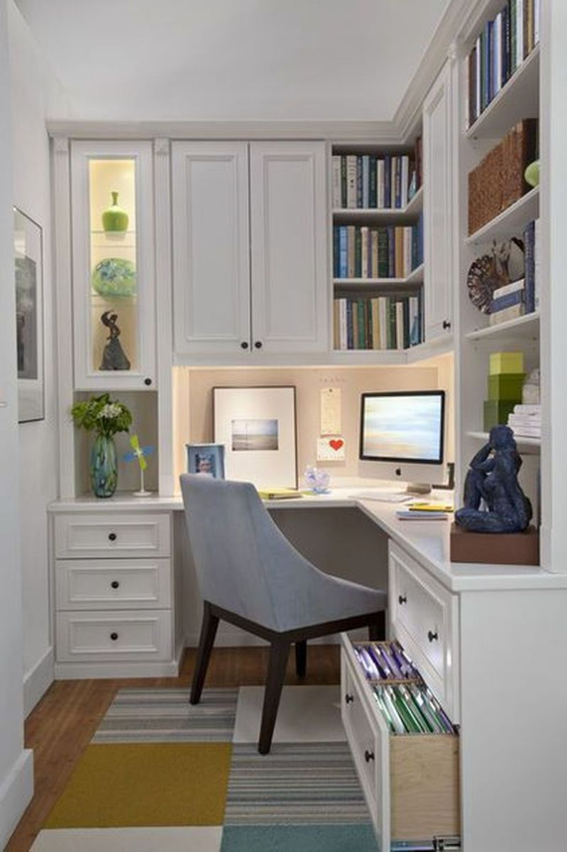 Inspiring Small Office Ideas For Small Space 26