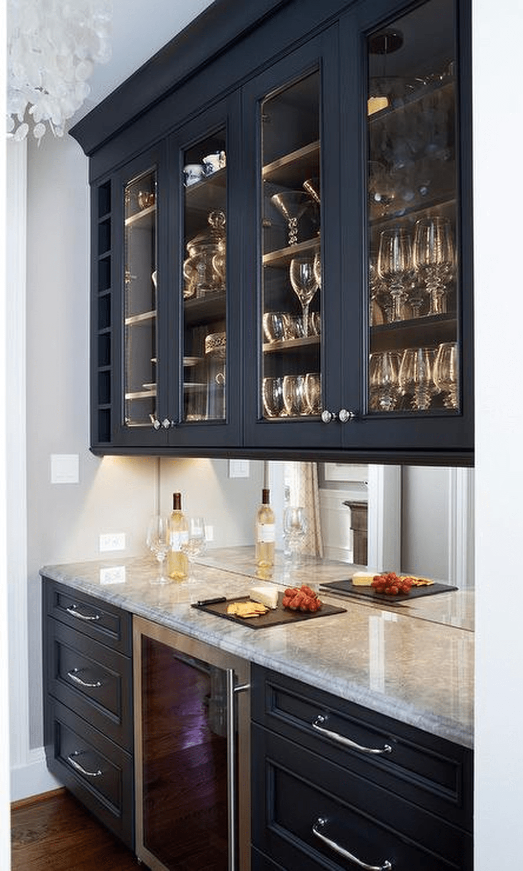 Nice Dark Blue Kitchen Cabinets With Luxurious Accent 18