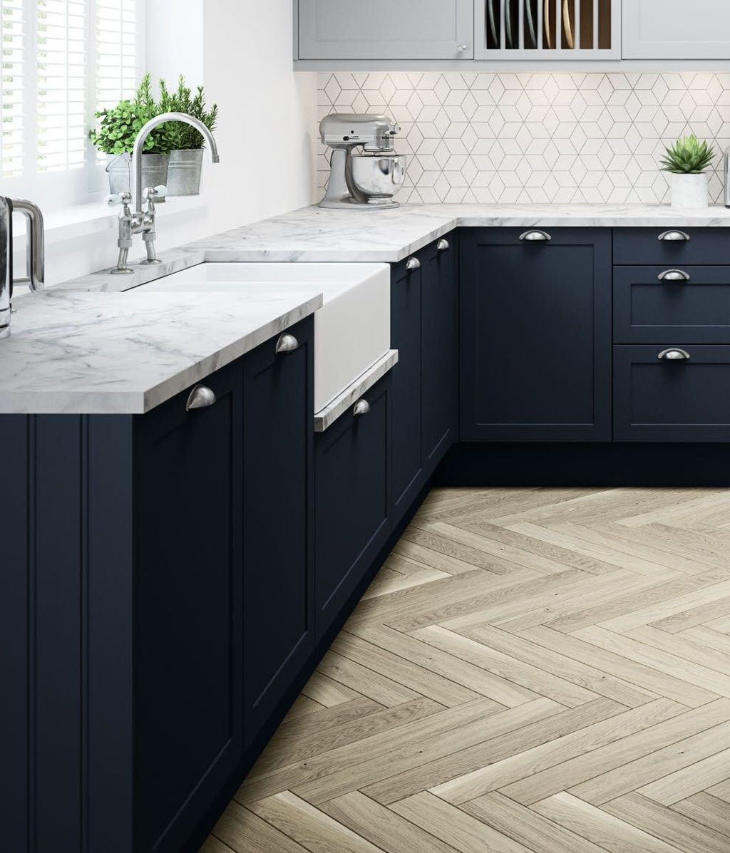 Nice Dark Blue Kitchen Cabinets With Luxurious Accent 19