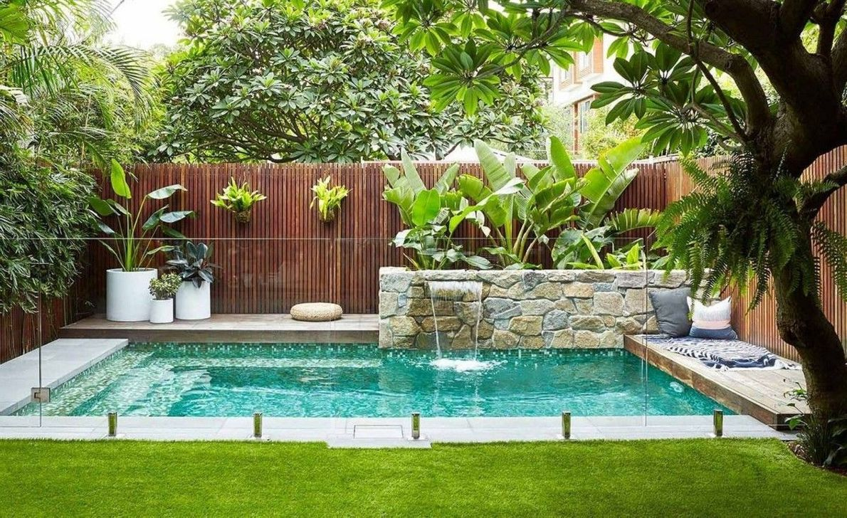 Stunning Backyard Pool Landscaping Ideas 03